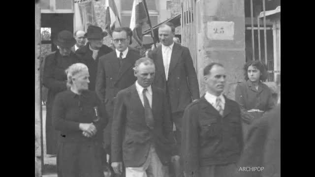 Inauguration du monument des Déportés de Villers (20 octobre 1946)
