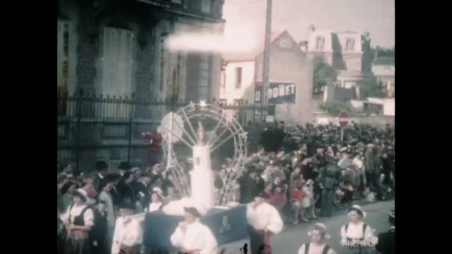 Cortèges 1954 Boisleux, Abbeville Fêtes mariales