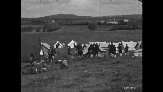 Rassemblement Scouts de France à Valenciennes, début quartier Sabatier